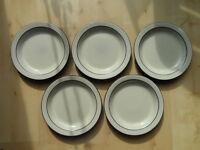 "HORNSEA POTTERY CORNROSE PATTERN 10"" WIDE DINNER PLATES X5"