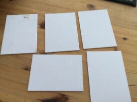 """5 Canvasses, brand new. 7"""" x 5"""" approx."""