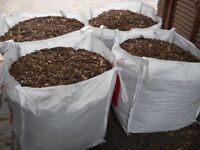 Wood Chippings Natural garden landscaping flowers plants stops weeds Similar to Bark Mulch Wood Chip