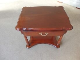 Rossmore table with drawer.