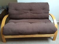 Two Seater Sleepmasters Futon Genoa - Chocolate Brown - Excellent Condition