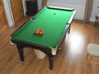 Riley Slate Bed Snooker Table with Dining Table Top