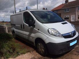 Vauxhall Vivaro 57 Plate Diesel Van, 8 months MOT