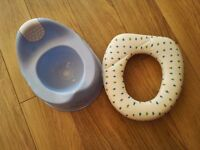 Potty and toilet trainer seat