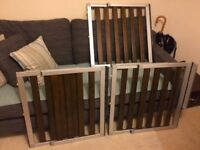 Lindam Numi Aluminium and Dark Wood stair gates