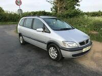 2004 Vauxhall Zafira, full MOT, very good condition!