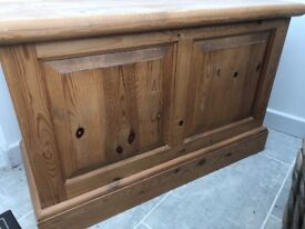 Old Pine Chest / Blanket Box, very solid