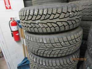 205/55R16 SET OF 2 AND 2, 2 ARE HANKOOK AND 2 ARE SAILUN WINTER TIRES