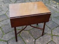 Nice old vintage small drop leaf table (1940s).