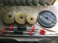 York Barbell Weights - clearing the garage