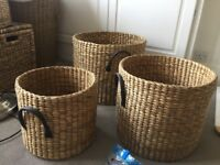 Wicker Baskets Set of 3 x 2