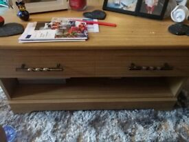 Real Oak unit and coffee table