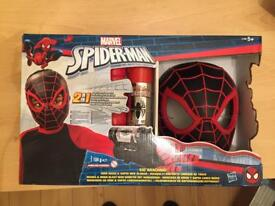 Marvel Spiderman 2in1 Hero Mask & Web Slinger Set