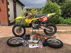 2013 Suzuki RM 85 cc big / small wheel motocross MX bike