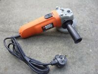Black & Decker CD115 Corded Small Angle Grinder With Guard 115mm 710W 230V/50Hz Great Used Condition