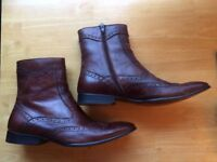 Paolo Vandini Mens Brown Leather Boots. Size 8
