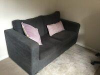 Grey / blue corduroy sofa bed