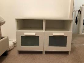 2 Ikea Brimnes bed side cabinets
