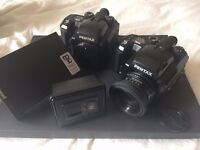 2x Pentax 645 N Film Camera Kit - Mint- and Good Condition