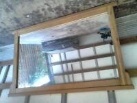 oak mirror...