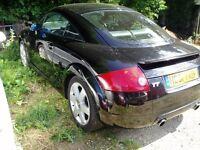 Audi TT passenger side complete door. Includes glass mirror and door card. Black. Ly9b.