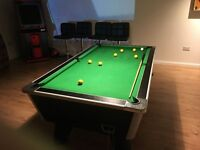 7ft by 4ft Supreme Pool Table, Including Lights, Iron, Balls, Triangle, Cues etc