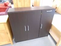 Brand New 3 Door 1 Drawer Dark Wood Sideboard. Already Built And Can Deliver. 2 Available