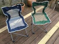 Green and Blue Camping Chair