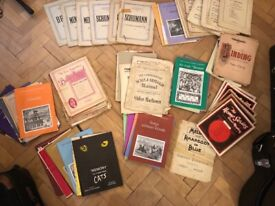 Vintage collection of Piano music books and scores
