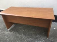 Large oak veneer desk VGC. Based in Littlemore. Lovely piece of furniture.