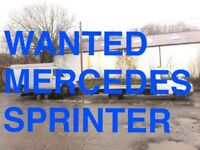 WANTED! MERCEDES SPRINTER 310D - 312 - 412D - ANY CONDITION