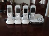 PANASONIC QUAD SET OF PHONES