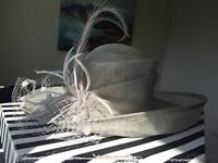 Ladies Silver/Grey Occasional Hat