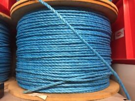 Blue polypropylene rope 6mm x 220metres