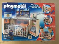 UNUSED NEW PLAYMOBIL CITY ACTION MY SECRET POLICE STATION PLAY BOX @ Childs Boy Girl Toy