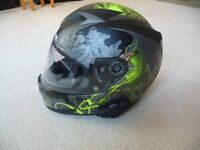 Motorcycle Helmet Shark S700Spring + phone head set. Size sm. Excellent cond. Reduced to £65