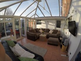 Beautiful, specious double and single room in amazing house .