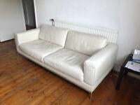 Sofa - Genuine Leather - Cream White - 3 Seater - IKEA Arlid