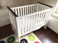Cot set from Trama/ Bebecar + Aerosleep mattress and protector, used but in very good condition