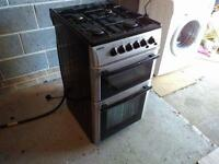Beko Black and silver gas cooker