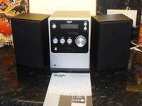 BUSH BLUETOOTH MINI MICRO SYSTEM REMOTE CONTROL RAD/CD PLAYER 2X5 WATTS RMS