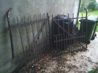Antique Iron Garden Gates Driveway