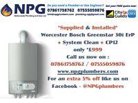 Worcester Bosch Greenstar Combi Condensing Boiler 30i ErP*50% OFF SUPPLY & INSTALL* *£999*(RRP 2.5K)