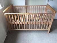 John Lewis solid wood cot bed - pristine condition
