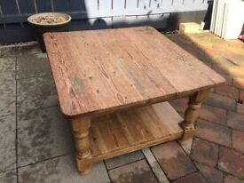Reclaimed pitch pine coffee table