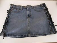 Ralph Lauren Rocker Mini Denim Skirt - UK Size 10 - US Size 6