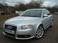 2005 AUDI A4 S-LINE EDITION TDI 140 BHP 6 Speed, 4DR,140.000 GENUINE MILEAGE,FULL SERVICE HISTORY
