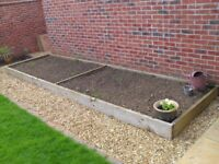 Raised Garden planter/flower bed 4.8 m long