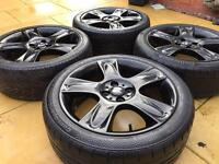 "Genuine 17"" BMW Mini Cooper S ""Bullet"" Clubman JCW Refurbished Alloy wheels & 205/45/17 Tyres"