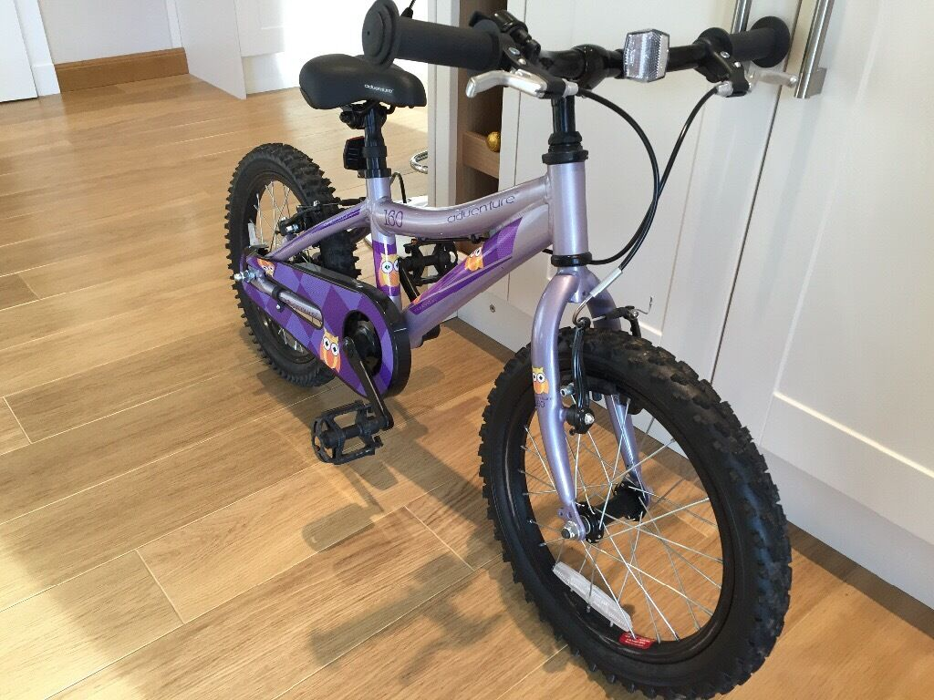 "GIRLS 16"" ADVENTURE 160 BIKE (PURPLE OWL PATTERN)"